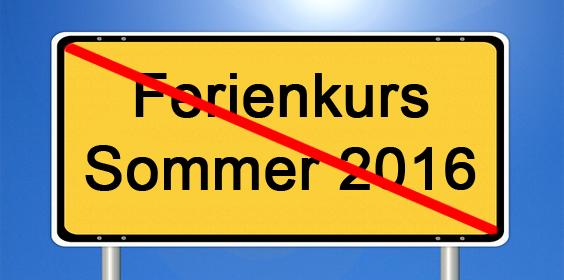 Ferienkurs Sommer beendet
